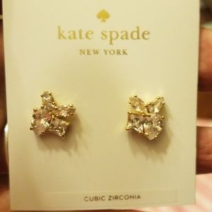 A PAIR OF KATE SPADE CUBIC ZIRCONA EARRINGS